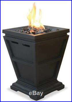 15 in. LPG Outdoor Small Fireplace in Slate Finish ID 3418959