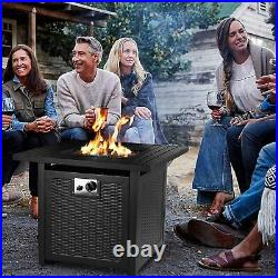 28'' Propane Gas Fire Pit Table Deck Patio Fireplace Heater with Waterproof Cover