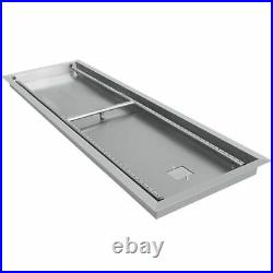 49x16 Drop-in Fire Pit Pan Withburner Table-top Fireplace Parts Propane Tank