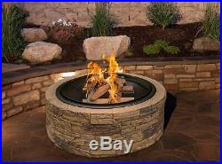 Best Large Patio Fire Pit Outdoor Fireplace Bowl Stone Backyard Cooking Heat New