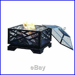 Extra Deep Fire Pit Wood Burning Outdoor Patio Grill Grate Table Fireplace Bowl