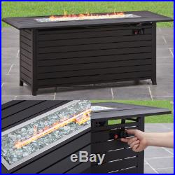 FIRE PIT OUTDOOR FIREPLACE Propane Patio Heater Gas Backyard Table Deck Burning