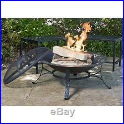 Fire Pit Copper Bowl Outdoor Finish Wood Burning Fireplace Heavy Duty Cast Iron