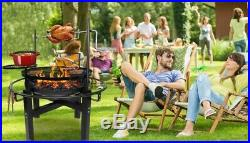Fire Pit Fireplace Barbecue Grill 2x GRATE 86 cm. 5in1