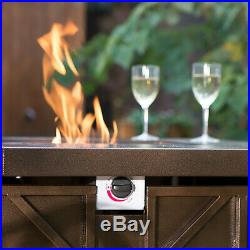 Fire Pit Table Outdoor Propane Gas Patio Heater Furniture Fireplace Backyard