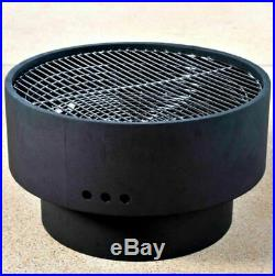 Firepit Side Table Wood Burning Fire Pit Grill Grate Outdoor Fireplace Cover New