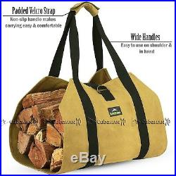 Firewood Carrier Log Wood Carrier Fireplace Tools Fire Pit Large ForestWonder