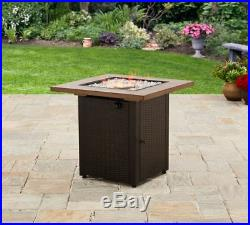Gas Fire Pit Table Cover Lid Top Set Outdoor Patio Fireplace