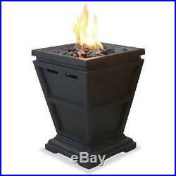 Gas Propane Outdoor Table Top Fireplace Fire Pit Heater Hearth Backyard Patio