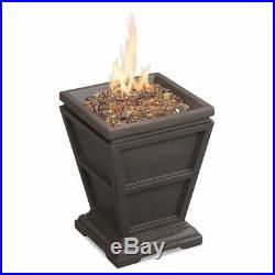 Gas Tabletop Heater Outdoor Garden Propane Fireplace Deck Patio Table Fire Pit
