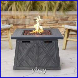 Large Wide Outdoor Fire Pit Table Patio Backyard Heater Modern Gas Fire Place
