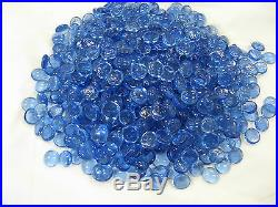 Light Blue Pebble Bead Fire glass for your fireplace or fire pit SKY GB-LT Blue