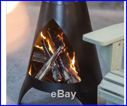 Outdoor Chiminea Wood Burning Fire Pit Fireplace Patio Backyard Camping Cover