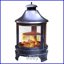Outdoor Cooking Pit (C) BBQ Patio Camping Chimenea Fireplace Fire Pit