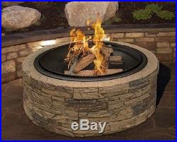 Outdoor Fire Pit Home Patio Yard Backyard Heater Round Fireplace Burning Wood