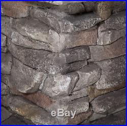 Outdoor Fire Pit Natural Stone Look Base Wood Burning Patio Backyard Fireplace