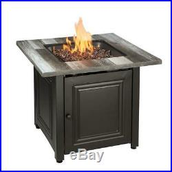 Outdoor Fire Pit Propane Gas 30 Inch Table Fireplace Cover Backyard Patio Heater