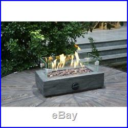 Outdoor Fire Pit Propane Gas Heater Table Top Fireplace Patio Durable Portable