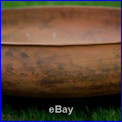 Outdoor Fire Pit Round Bowl Wood Burning Fireplace Cast Iron Large Hearth Rustic