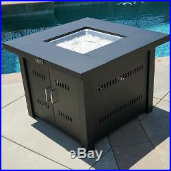 Outdoor Fire Pit Table Cover Deck Heater Propane Fire Burner LG Gas, 40,000BTU