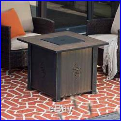Outdoor Fire Pit Table Fireplace Propane Gas Firepit Stone Patio Furniture Heat