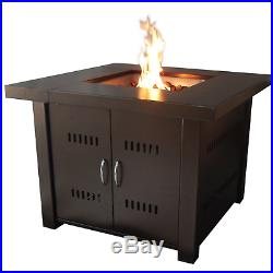 Outdoor Fire Pit Table Patio Deck Backyard Heater Fireplace Propane LP Flame