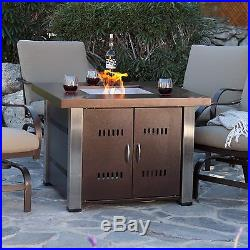 Outdoor Fire Pit Table Propane Gas Patio Heater Fireplace Backyard Furniture