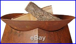 Outdoor Fireplace Wood Burning Fire Pit Bowl Rustic 22 inch Round Steel Patio