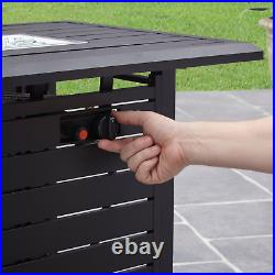 Outdoor Gas Fire Pit Table Fireplace Patio Yard Camping Heater Propane Gas 57