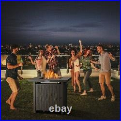 Outdoor Propane Fire Pit Patio Gas Table 28 Square Hot Fireplace 50,000BTU US
