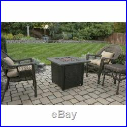 Outdoor Propane Fire Pit Table Fireplace Garden Yard Patio Furniture Lawn Cover