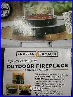 Patio Fire Pit Table Top Portable Propane Gas Fireplace Bowl Heater Outdoor Deck