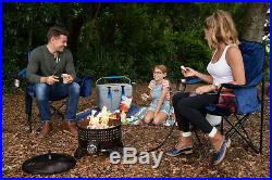 Portable Gas Fire Pit Outdoor Fireplace Patio Heating Lava Rock with Propane Stand