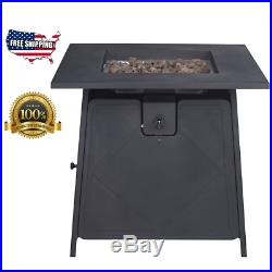 Propane Gas Fire Pit Table 50000 BTU Outdoor Patio Deck Pool Spa Fireplace
