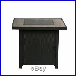Propane Gas Fireplace Outdoor Gas Fire Table 30-in W 50000-BTU BALI OUTDOORS LP
