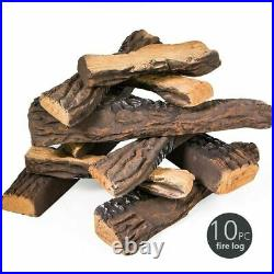 Replacement Fake Ceramic Log Set for Fireplace Fire Pit Faux