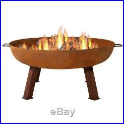 Sunnydaze Outdoor Large Rustic Cast Iron Wood-Burning Fire Pit Bowl 34-Inch