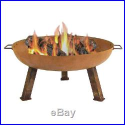 Sunnydaze Outdoor Rustic Cast Iron Wood-Burning Fire Pit Bowl 30-Inch