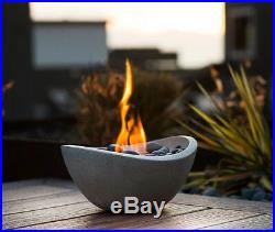 Tabletop Fire Pit Table Fireplace Gel Stone Firepit Decoration Yard Pebbles Bowl