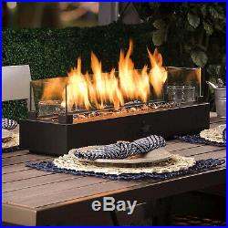 Tabletop Gas Fire Pit Patio Table Top Propane Outdoor Fireplace Bowl Heater