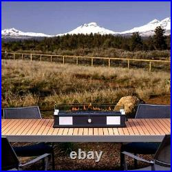 Tabletop Propane Gas Fire Pit Patio Table Top Fireplace Heater with Speaker System