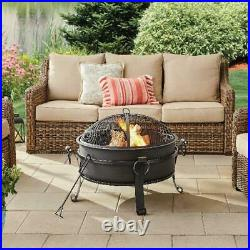 Wood Burning Fire Pit Table Top Backyard Patio Deck Outdoor Fireplace Heater 30